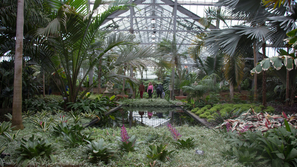 Entrance of Garfield Park Conservatory.