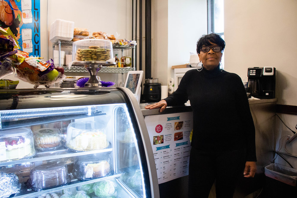 Jeri Budwick, Owner of The Lunchbox, welcomes customers to her new bite0sized restaurant at 906 S. Homan Ave.