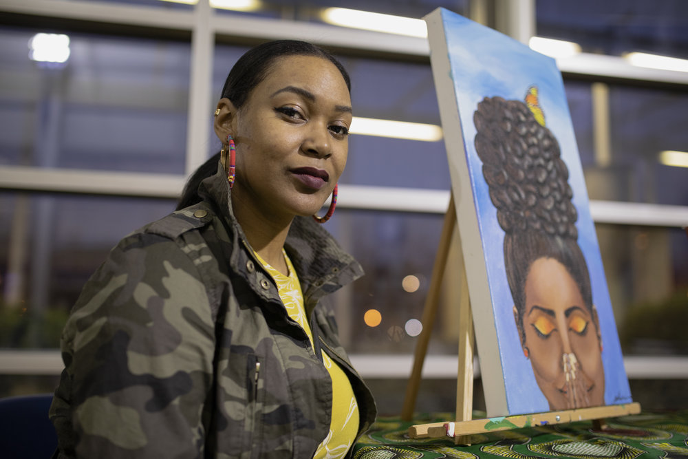 Alexie Young is an artist who is working on a series of paintings that explore the different ways women heal.