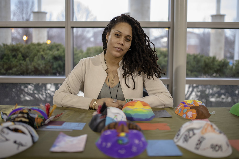 Azadi Sol is an SAIC artist-in-residence at Nichols Tower. Sol teaches acting at North Lawndale College Prep and uses visual and performing art as a form of therapy.