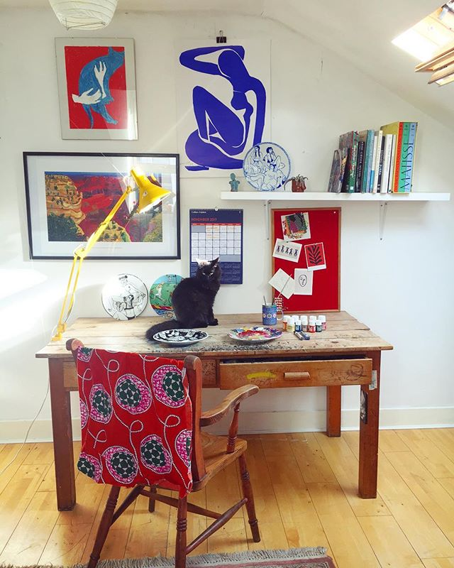 The studio of Eliza Hopewell, full of homage to French painter Henri Matisse.