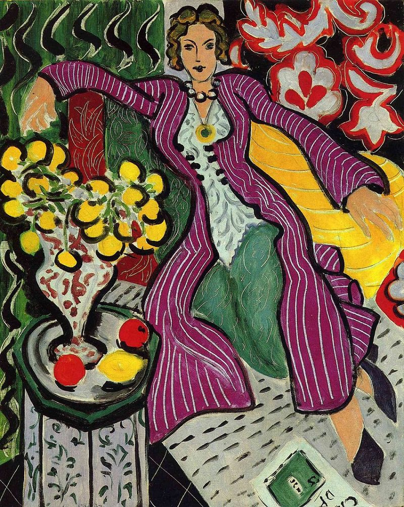 """Woman in a Purple Coat"" by Henri Matisse, 1937"
