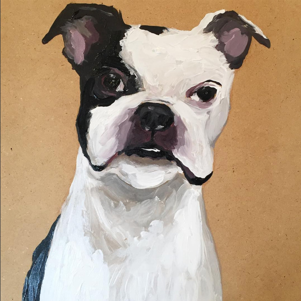 WALLY - 12x12 Acrylic on woodPrivate Collection