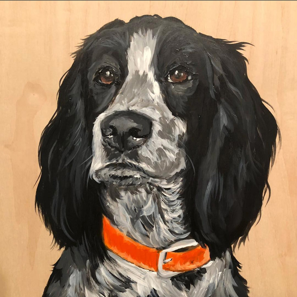 SCOUT - 12x12 acrylic on woodSOLD