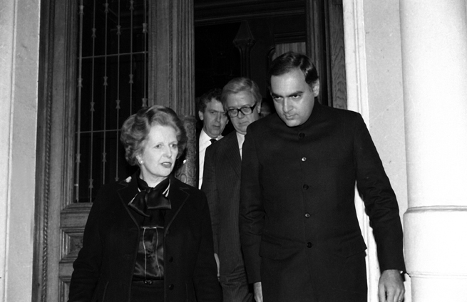 The Thatcherite government in the UK was silent about the pogroms so as to maintain a billion pound weapons deal with Rajiv Gandhi's India.