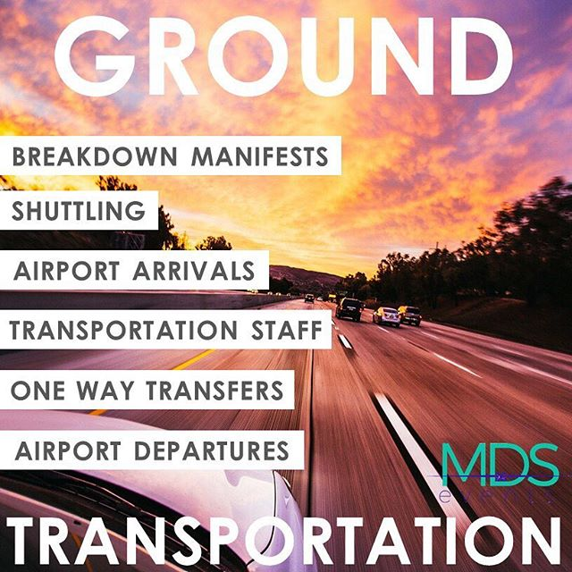 MDS Events also handles your ground #transportation, from small #VIP groups to 5,000+ #transfers, we've got you covered. We'll breakdown the #manifest, provide #staffing and get you the best possible price! #meetingplanner #eventplanner #eventprofs #eventpros #specialevents
