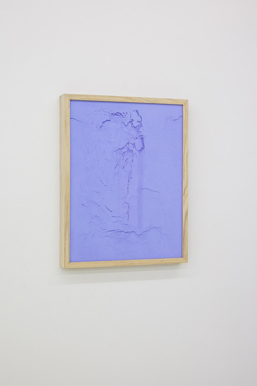 Le ciglia azzurre del padre - Pigment pur - 45x35cm