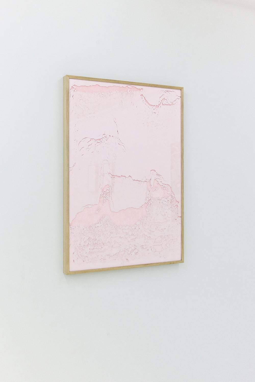 Declivi di rose I.Pigment pur 100x70cm