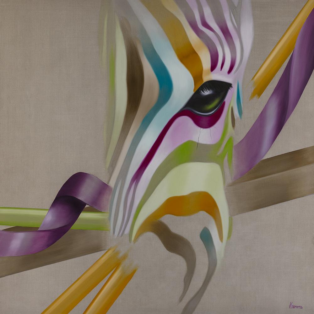 Création 140x140 cm Huile sur lin