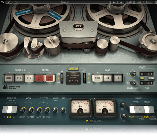 J37 TAPE MACHINE - Also from the waves Abbey Road plugins, everything recorded at the studio in the 60's and 70's went through one of these, more often than not that sound your after hit tape before vinyl.