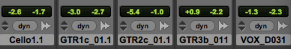(meter reduction for protools control mix)