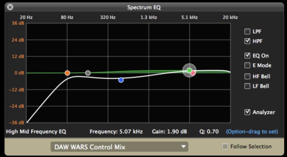 (EQ settings for Reason 7 EQ mix)