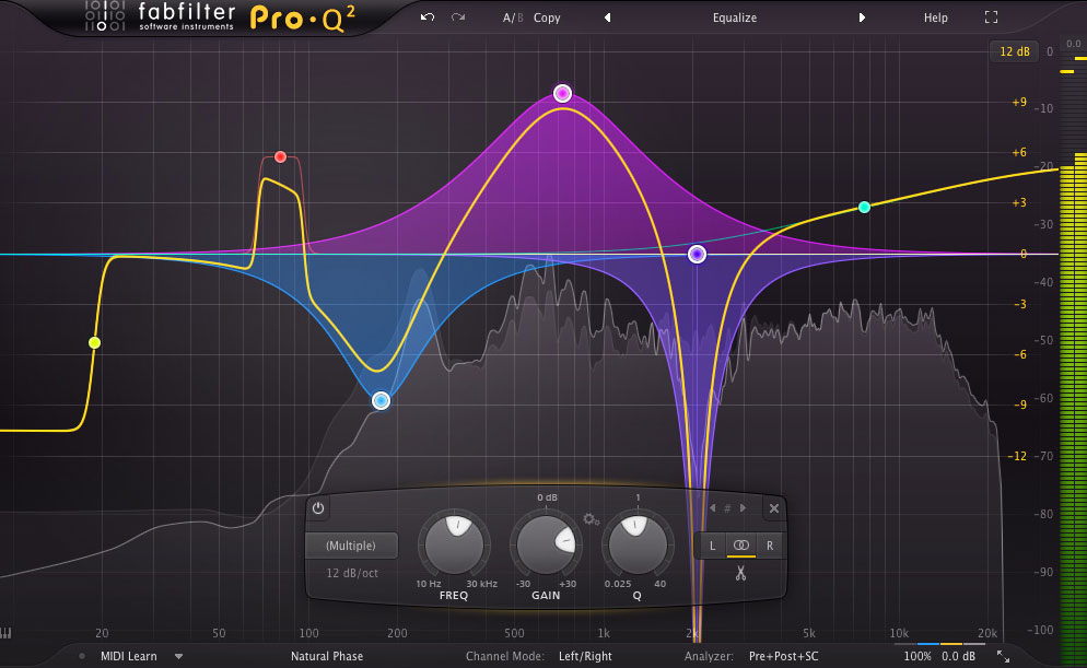 An equalizer is probably the tool you use most while mixing and mastering, so you need the best of the best! With FabFilter Pro-Q 2, you get the highest possible sound quality and a gorgeous, innovative interface with unrivalled ease of use