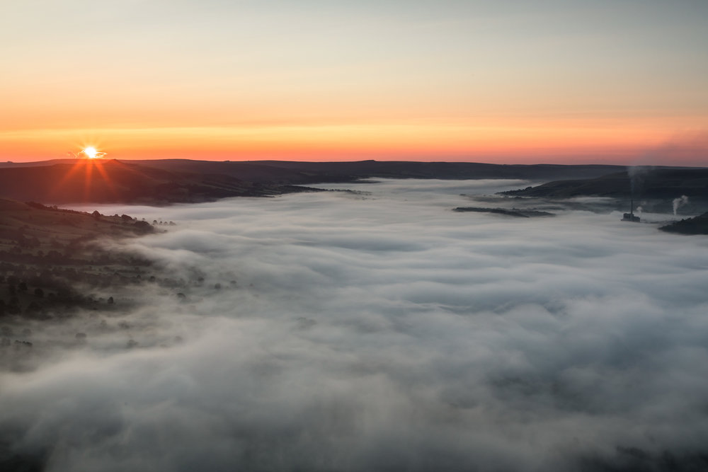 Hope Valley Sunrise - Stunning cloud inversion at Hope Valley -  BUY PRINT HERE