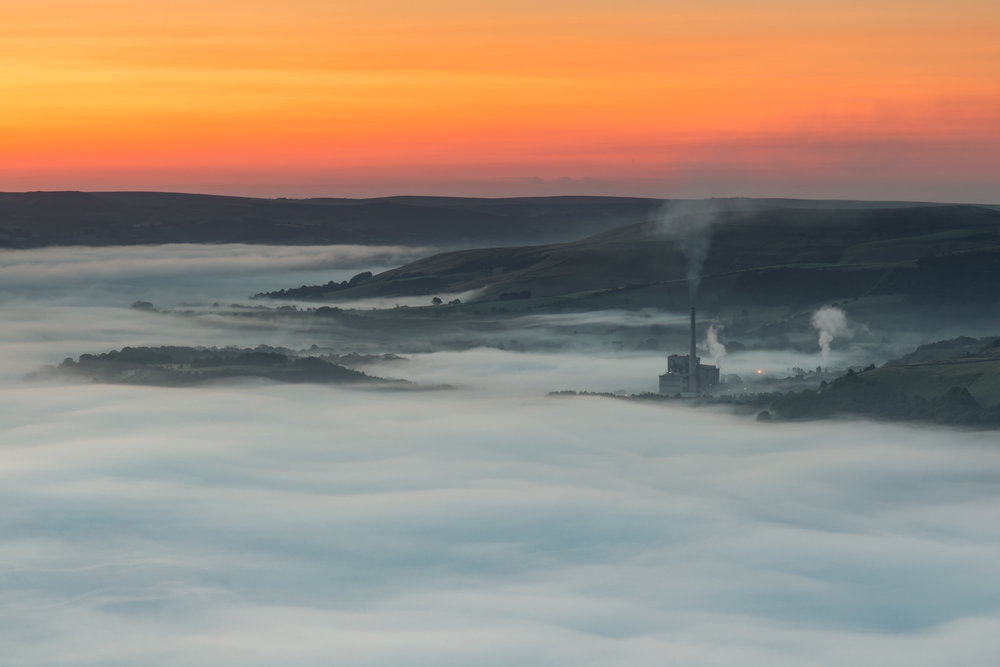 Misty Morning - Hope Valley cement plant on a misty morning -  BUY PRINT HERE