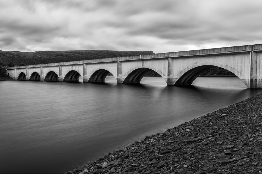 Ashopton Viaduct - Early morning at Ladybower Reservoir