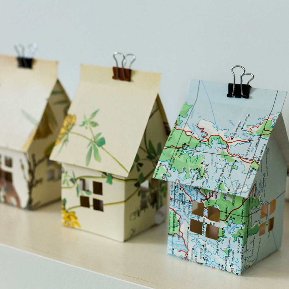 Mini Paper Houses by Marama Davis