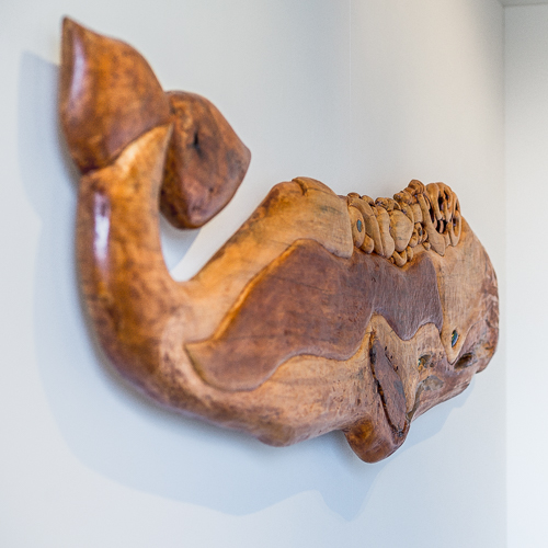 Carved Wooden Whale