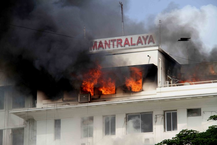 Mantralaya on fire...