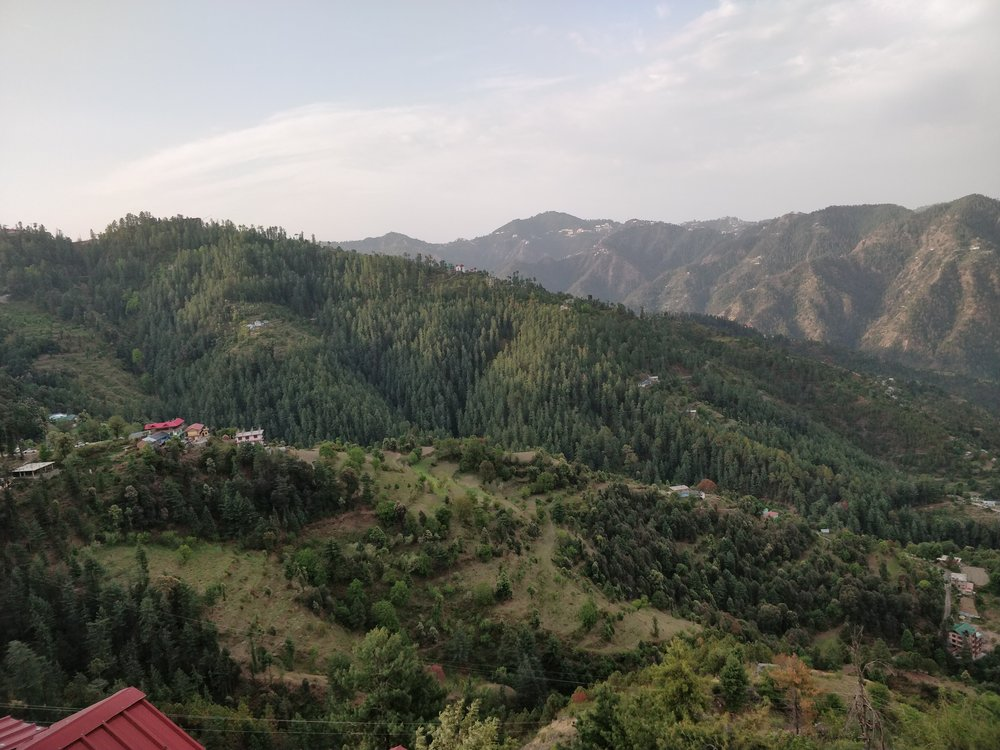 Valley view from hotel..