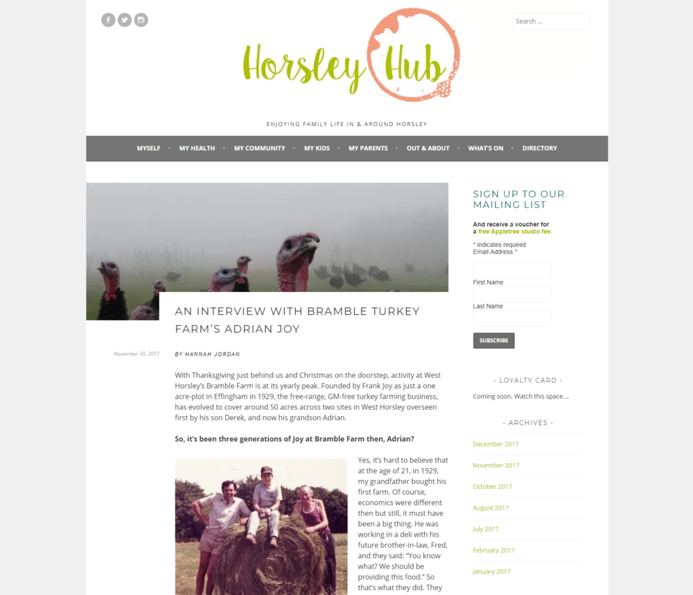 Horsley Hub interview