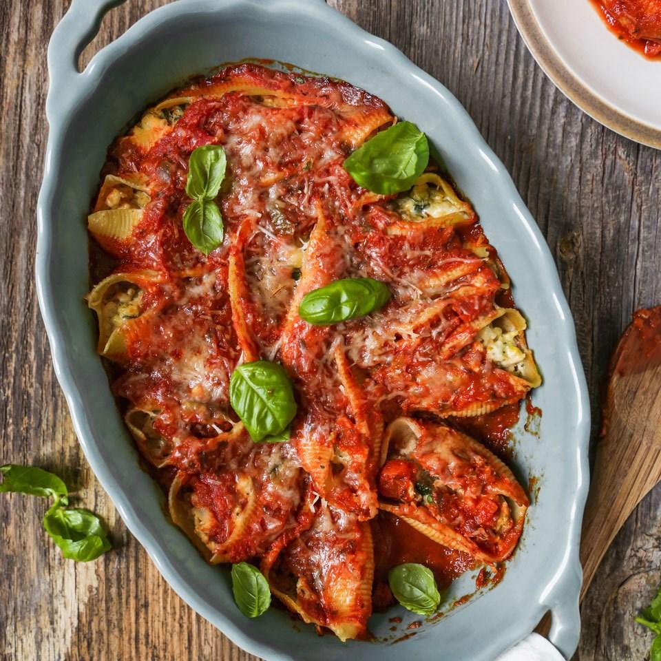 Eating Well's -  Turkey & Ricotta Stuffed Shells  recipe