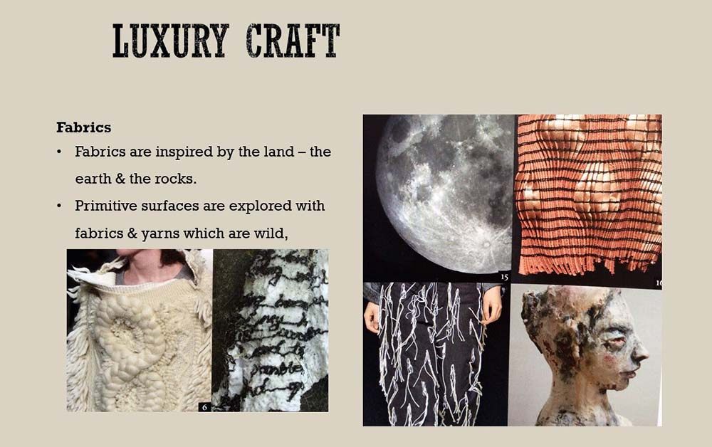 'Luxury Craft' AW 2018 trend, Fiona Chautard