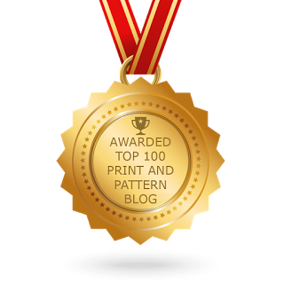 Top 100 Print and Pattern Blog Award Badge