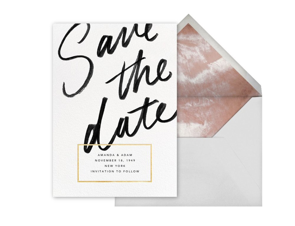 Save the Date card, Deighton, Paperless Post