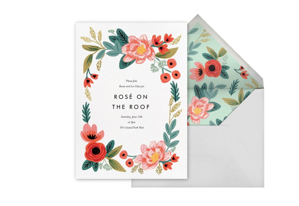 'Woven Wildflowers' Party Invitation by Riffle Paper Co.