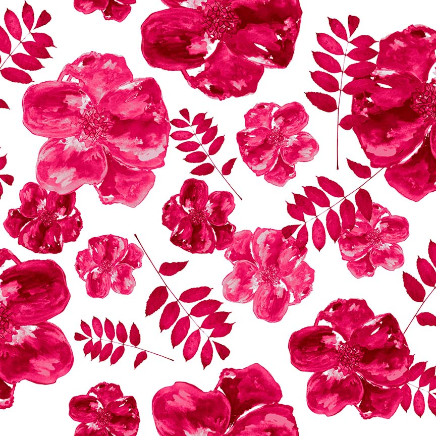 Pink Poppy Watercolour surface pattern design by Rebecca Johnstone