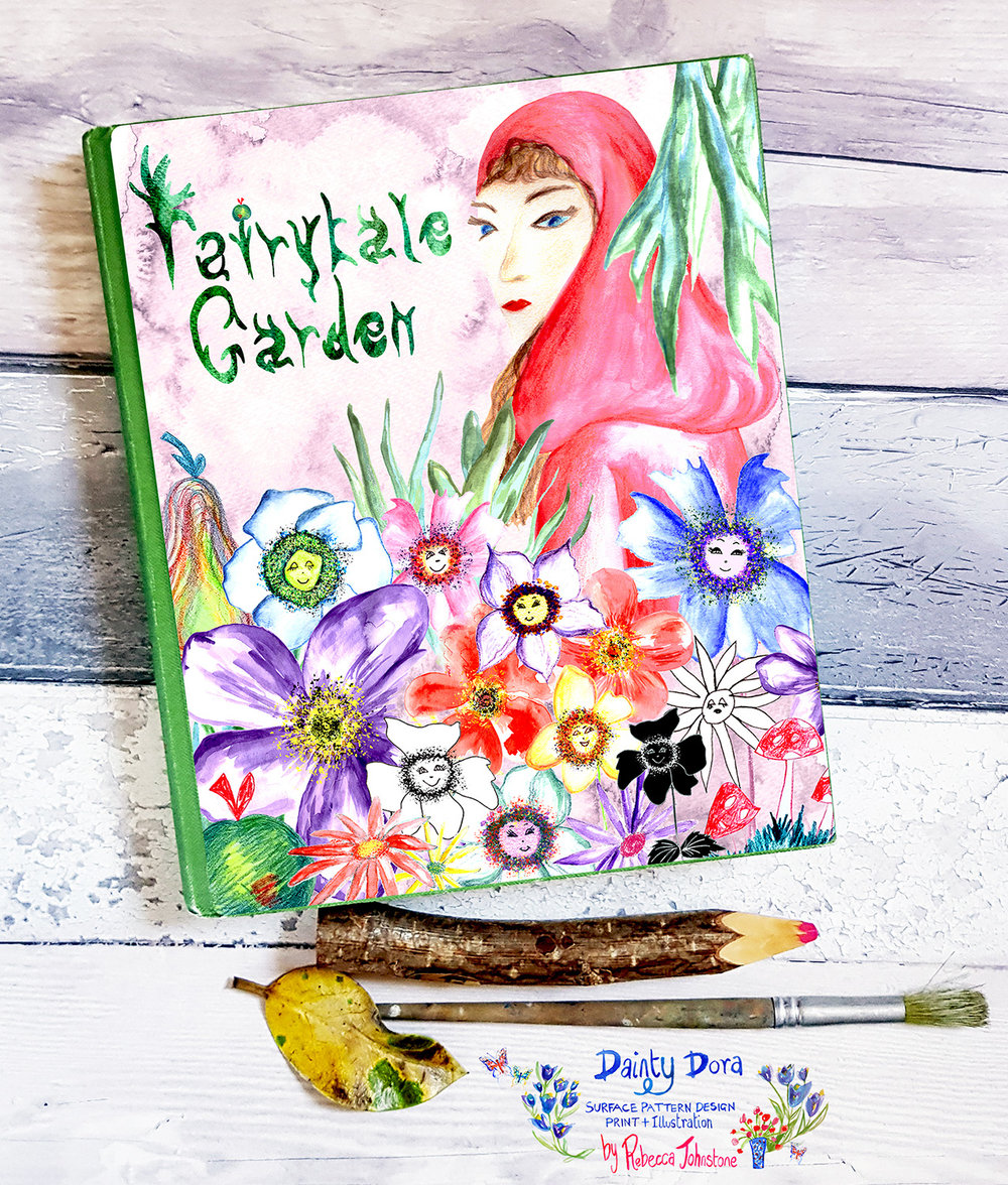 'Fairytale Garden' Journal Cover Mock-up, Rebecca Johnstone