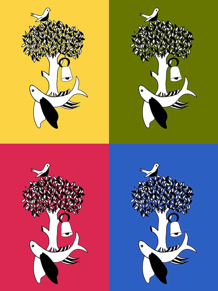 Glasgow Crests - all colour print by Rebecca Johnstone aka Dainty Dora