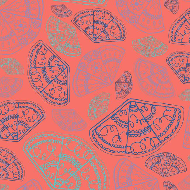 Japanese Fan surface pattern design by Rebecca Johnstone