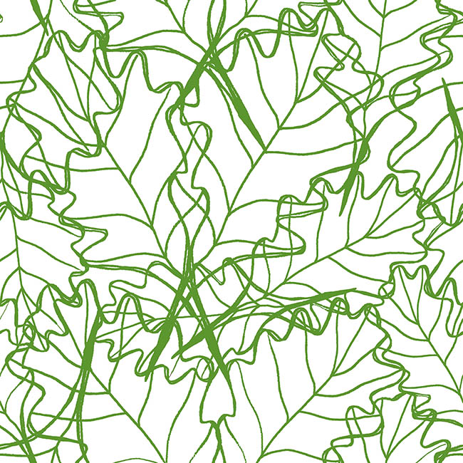 Overlapping Leaves surface pattern design by Rebecca Johnstone