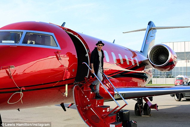 F1 driver and twice Monaco Grand Prix champion Lewis Hamilton flies to each race aboard his own Bombardier Challenger 605