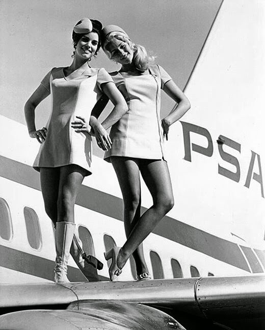 When stewardesses were hot and jets were cool