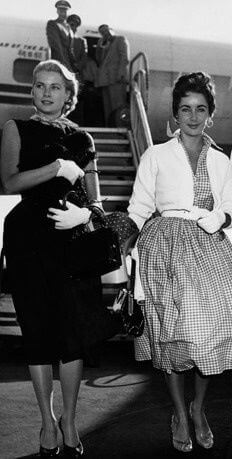 Grace Kelly & Elizabeth Taylor