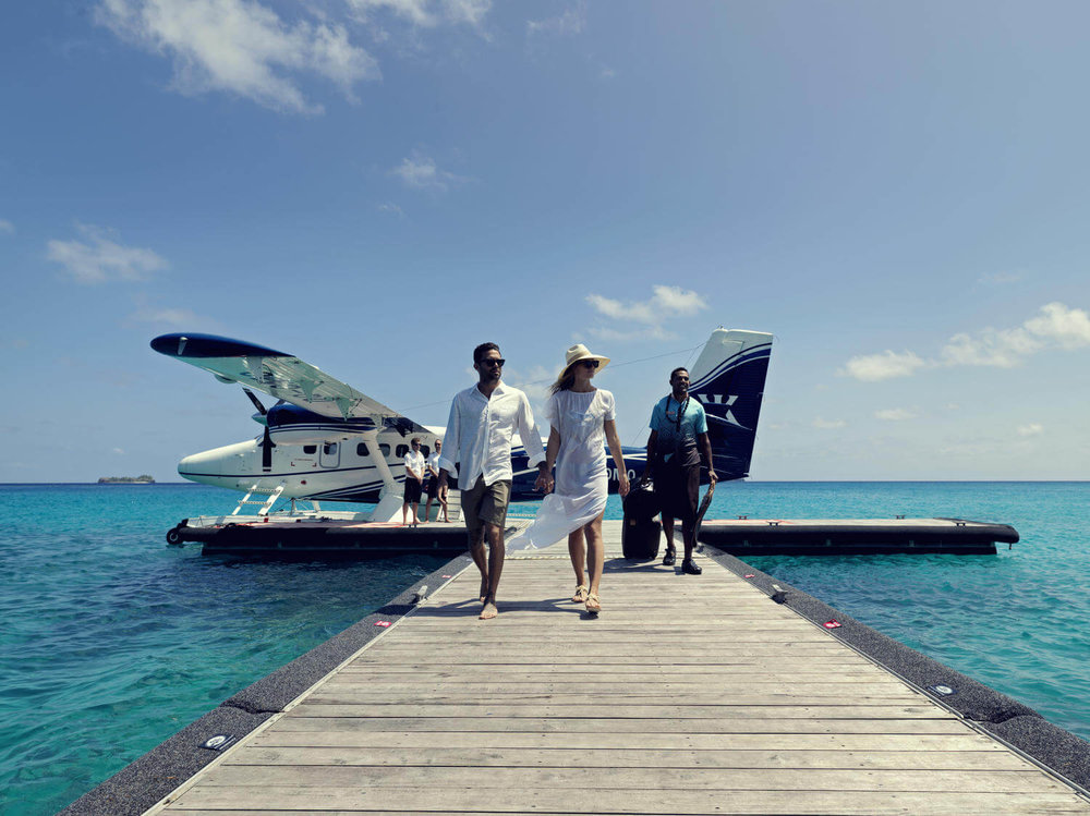 Guests arrive at Kokomo Private Island by private sea plane or helicopter from Nadi and Suva