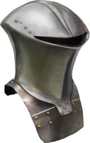 Frog-mouth helm