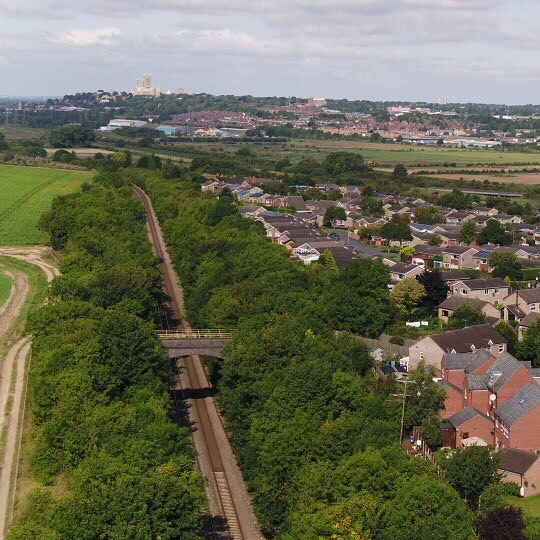Waiting patiently all morning for the #flyingscotsman only for it not to pass through #lincoln 😞  #Drone #Drones #Dronestagram #Dronephotograph #uav #droneoftheday