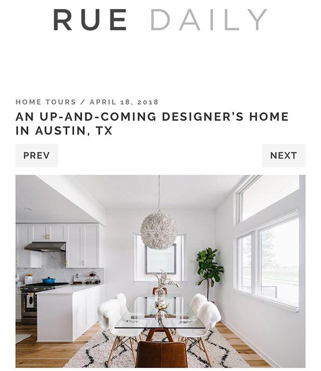Thank you to @ruemagazine for the beautiful feature on your site. It has always been a personal goal of mine to be included in your curated collection of homes. Head over to our profile to check out the post! 👀🎉😊 📷: @thevuvobandit