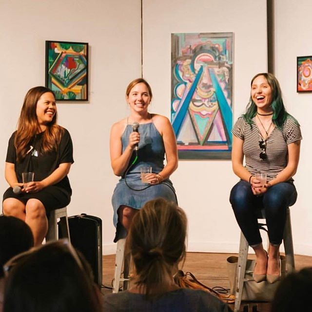 Happy one year anniversary to Sam over at @themoversandmakers! Thank you for inviting me to speak at @therevery about my journey as an entrepreneur. You never know how your path can change in life when you follow your passion. I especially loved hearing  @therefineryatx and @sarahbeehair talk about their inspiring and courageous stories. 💗