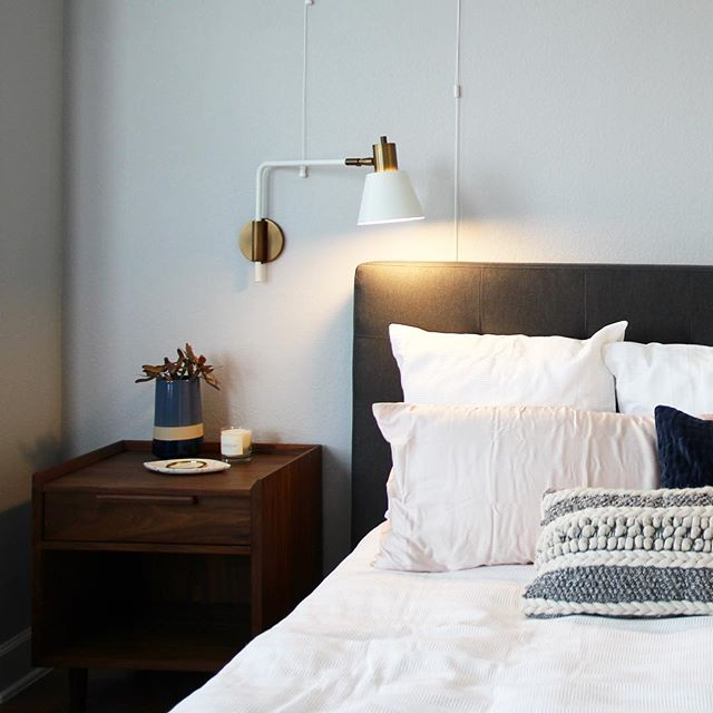 Master bedroom details at our #sweetwatergoesmodern project!