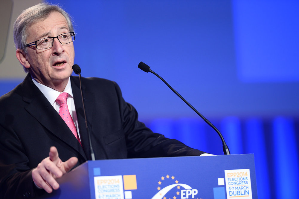 Juncker at the EPP Congress in Dublin in 2014.