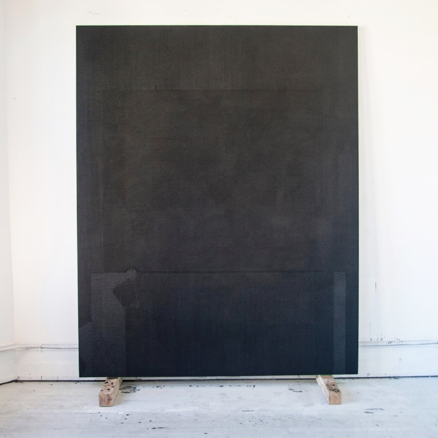 Tomb, oil graphite paster on panel, 96 x 77 inches, 2015/2016