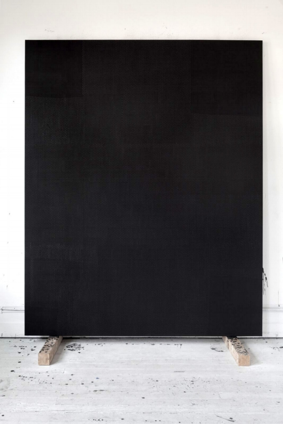 Cruciform, (By Foot, in Spain),   oil, graphite, paster on panel, 96 x 77 inches, 2017