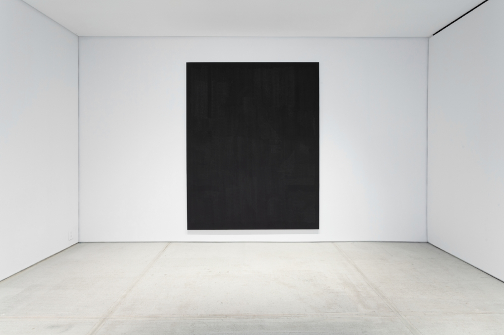 Installation View, Unannounced, TOTAH,  Ancestral , oil, graphite and plaster on panel, 91 x 71 inches, 2017