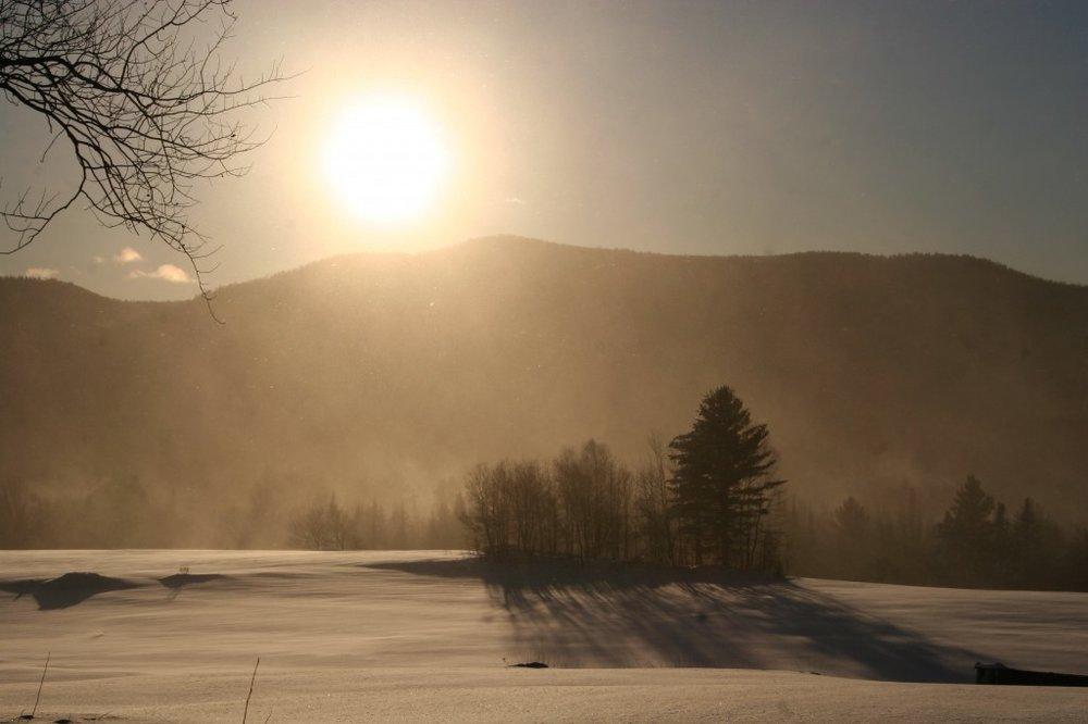 Sunset Over the Ridge.