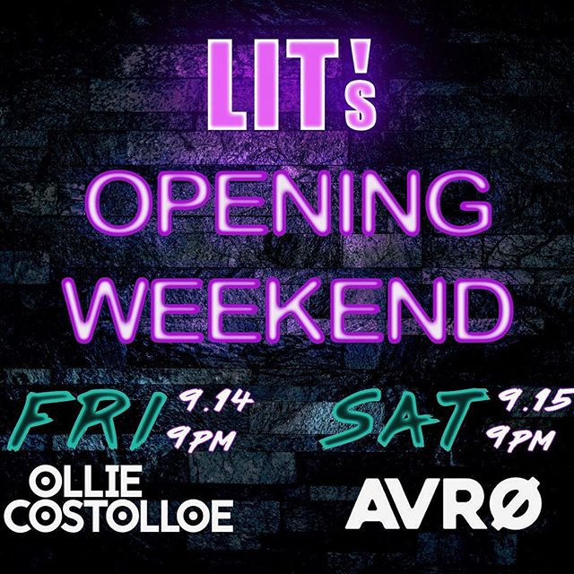 It's time... Friday AND Saturday we are open early!!! So let's get ready to party my party people!